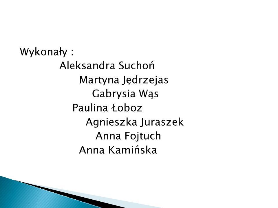 Wykonały : Aleksandra Suchoń Martyna Jędrzejas Gabrysia Wąs Paulina Łoboz Agnieszka Juraszek Anna Fojtuch Anna Kamińska