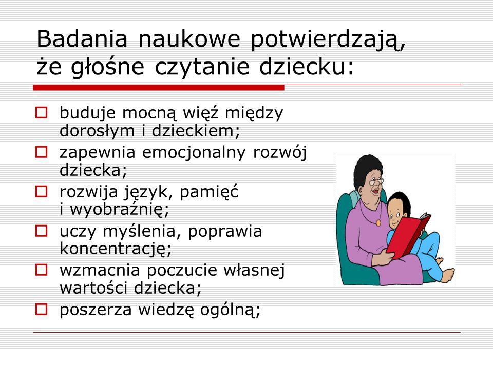 Badania naukowe potwierdzają, że głośne czytanie dziecku: