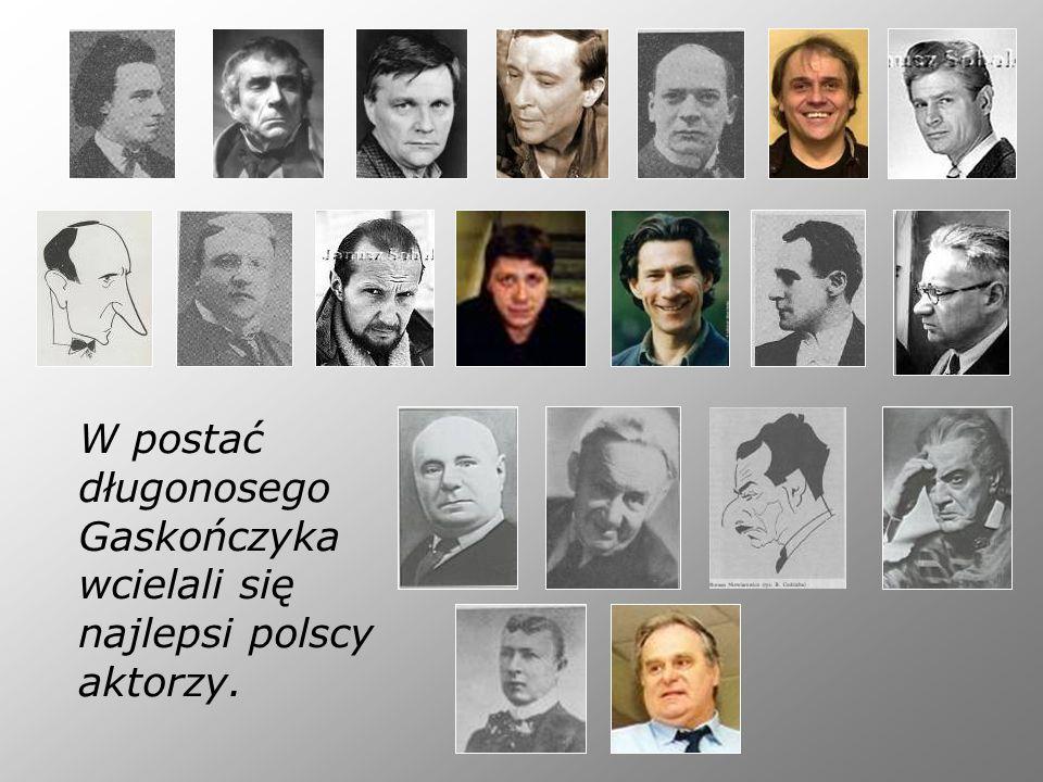 W postać długonosego Gaskończyka wcielali się najlepsi polscy aktorzy.