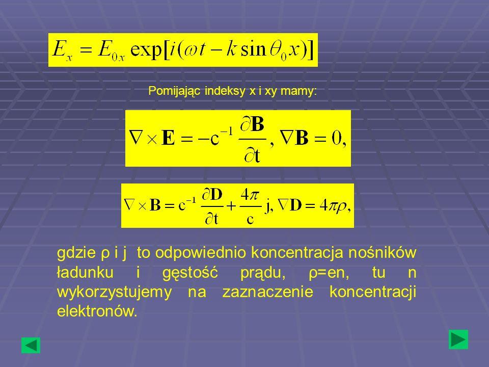 Pomijając indeksy x i xy mamy:
