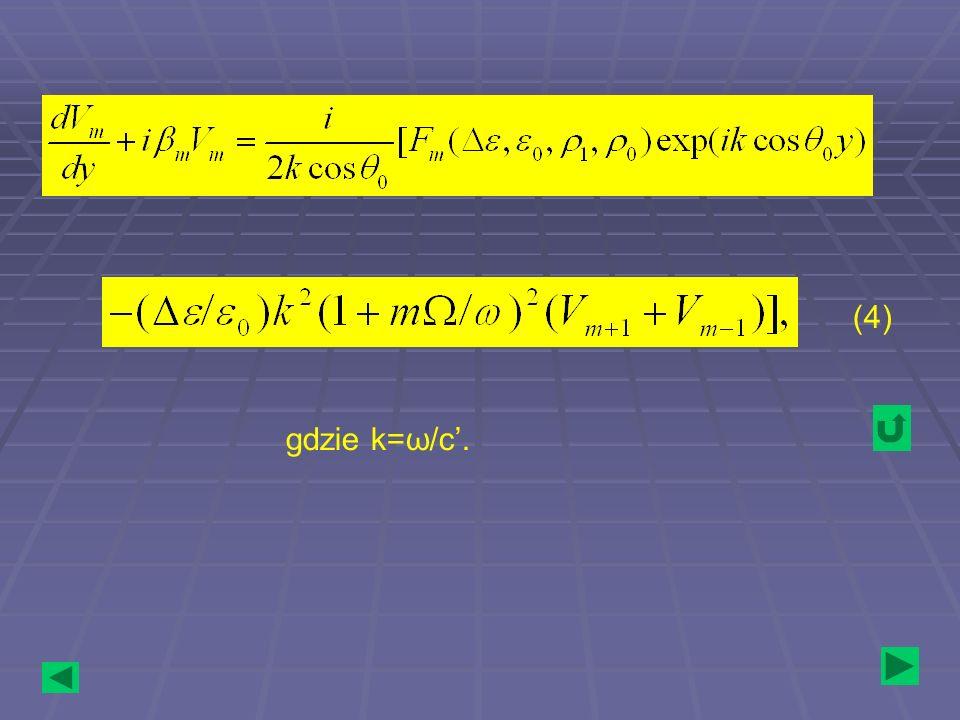 (4) gdzie k=ω/c'.
