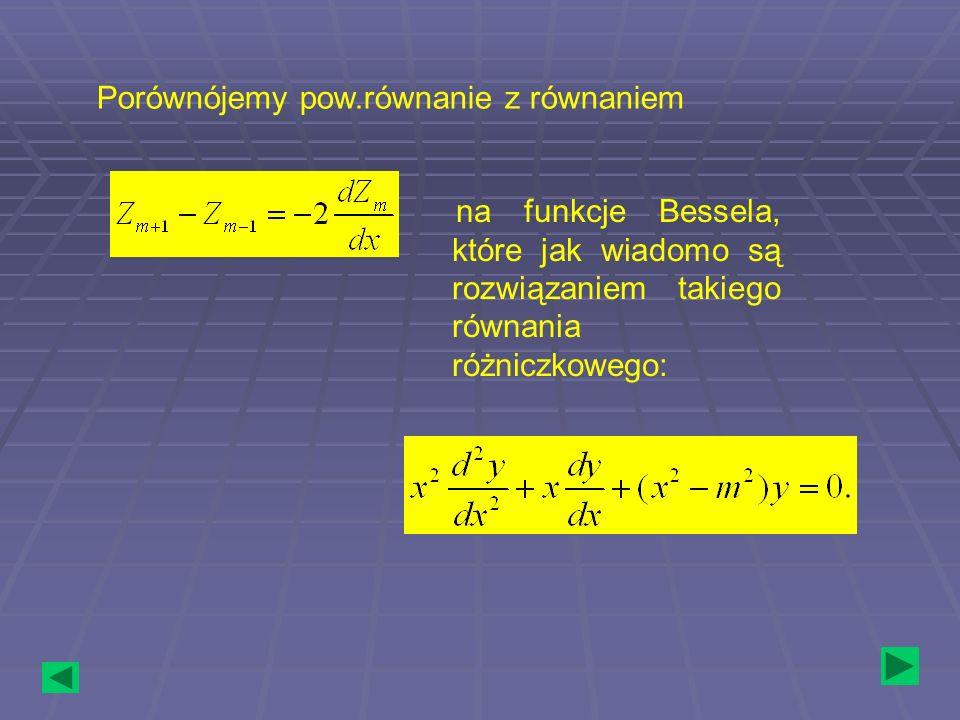 Porównójemy pow.równanie z równaniem