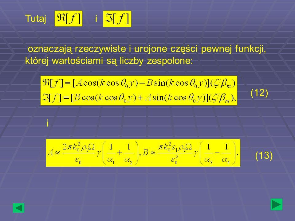 Tutaj i. oznaczają rzeczywiste i urojone części pewnej funkcji, której wartościami są liczby zespolone: