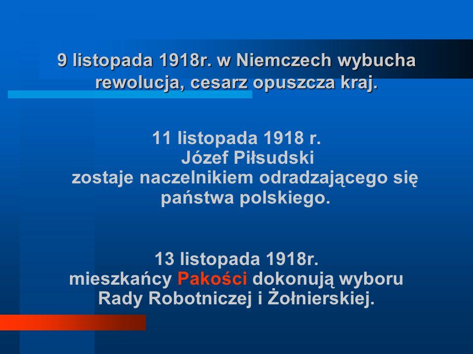 mieszkańcy Pakości dokonują wyboru Rady Robotniczej i Żołnierskiej.