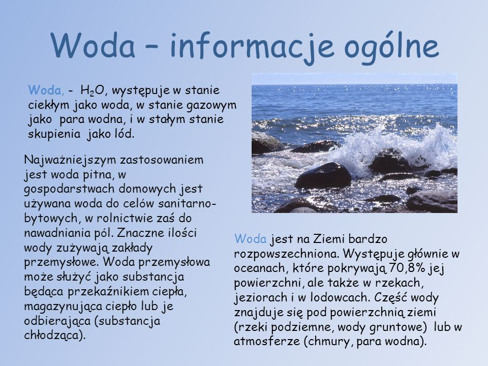 Woda – informacje ogólne