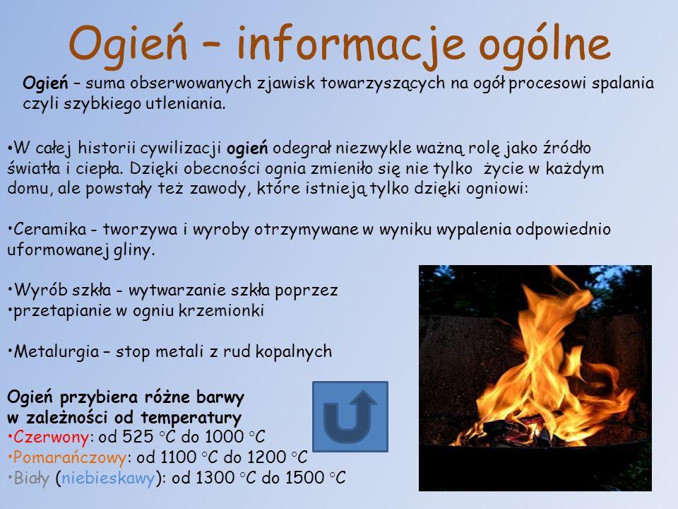 Ogień – informacje ogólne