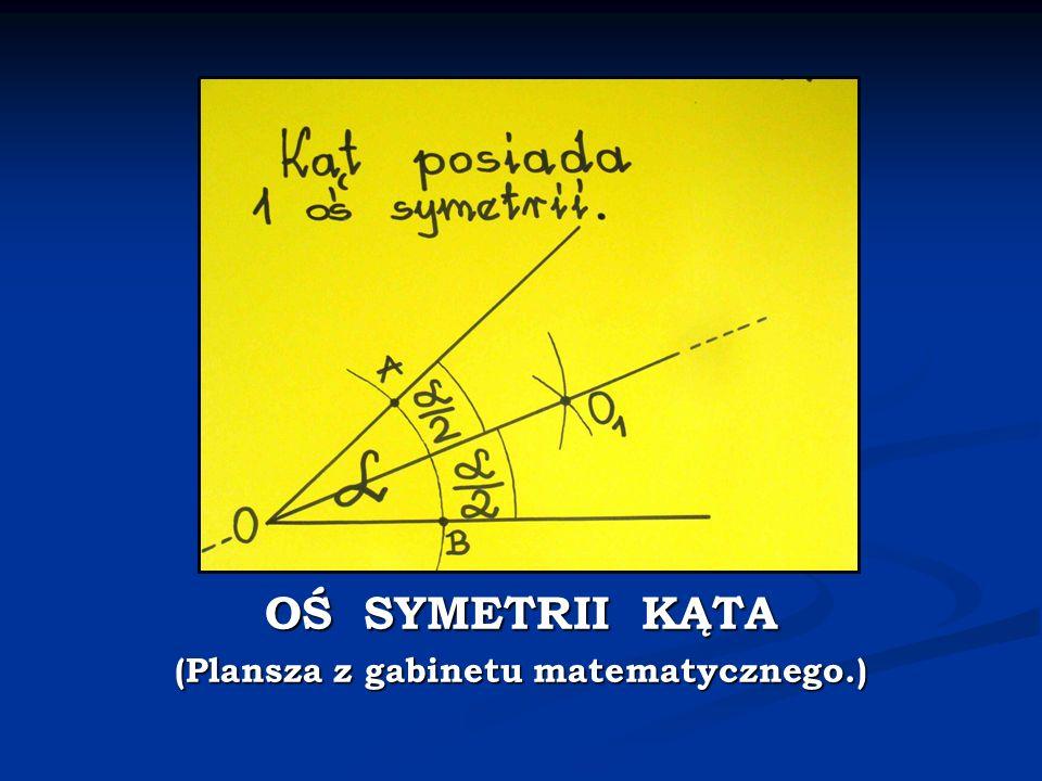(Plansza z gabinetu matematycznego.)