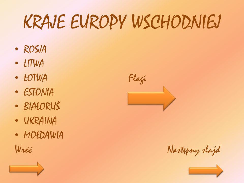 KRAJE EUROPY WSCHODNIEJ