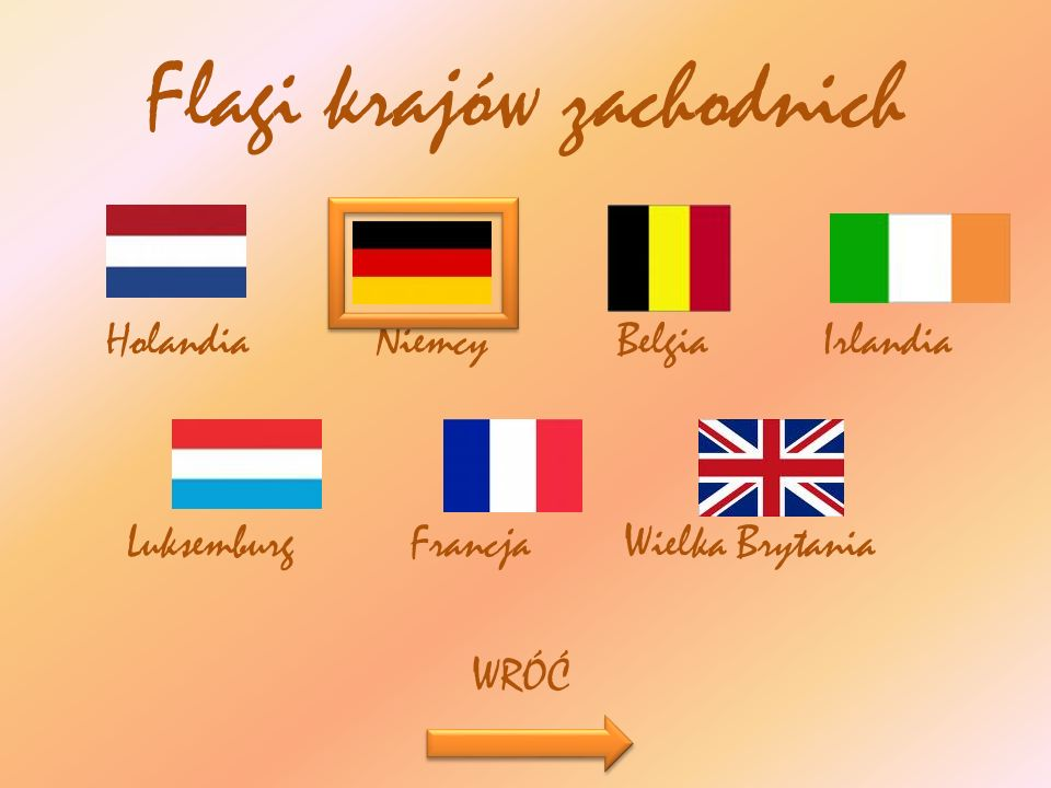 Flagi krajów zachodnich