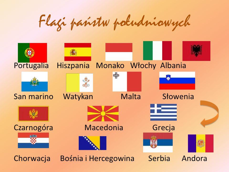 Flagi państw południowych