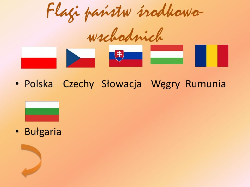 Flagi państw środkowo-wschodnich