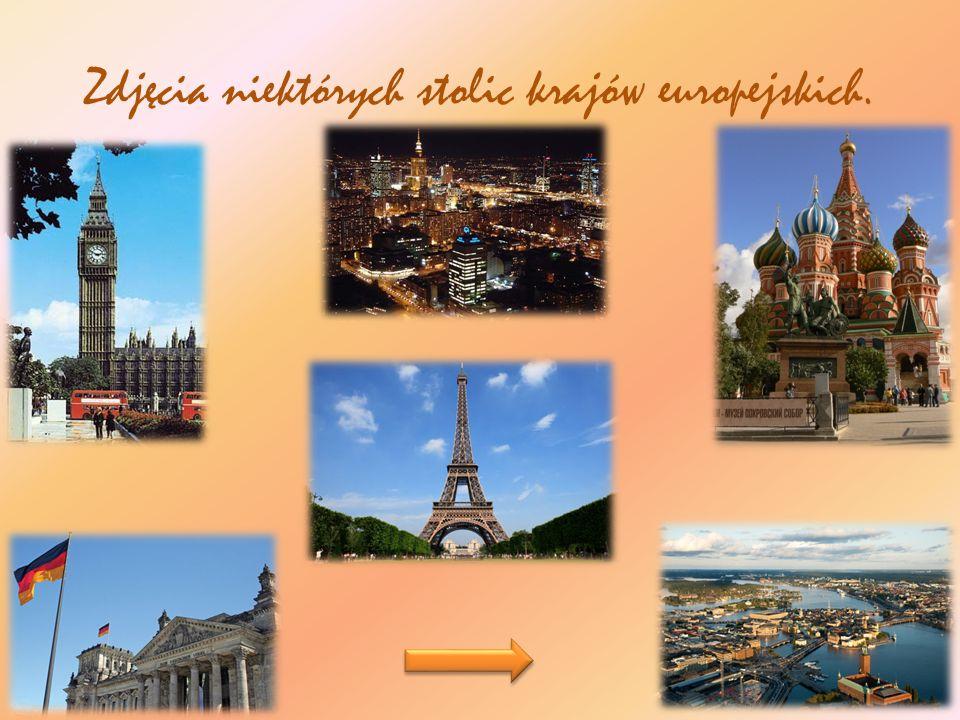 Zdjęcia niektórych stolic krajów europejskich.