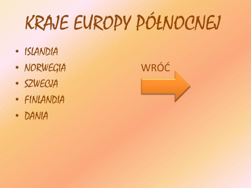 KRAJE EUROPY PÓŁNOCNEJ