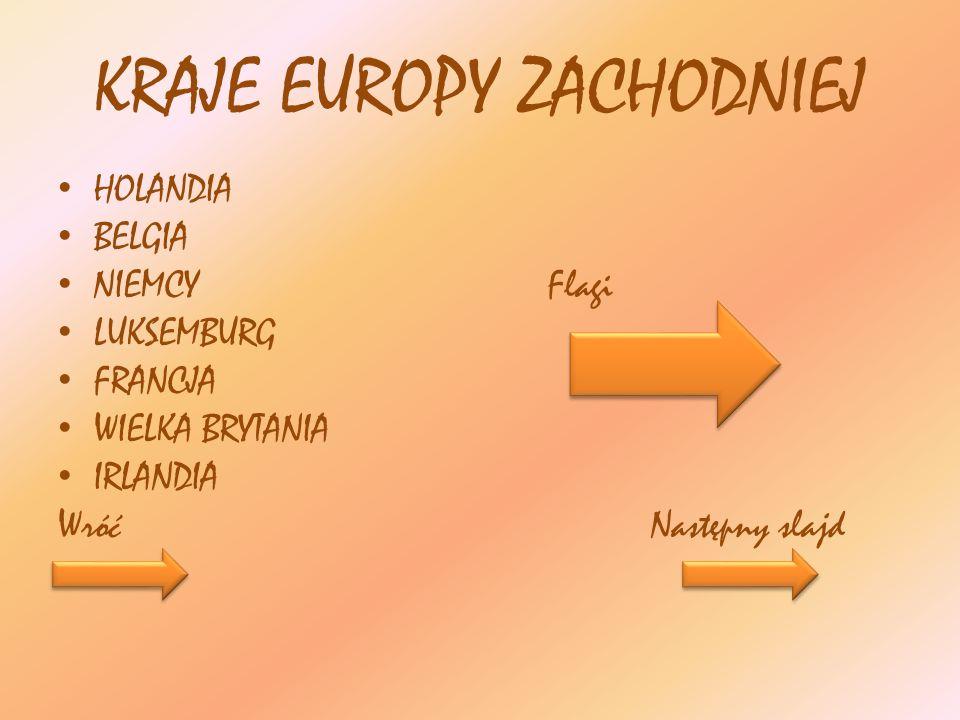 KRAJE EUROPY ZACHODNIEJ