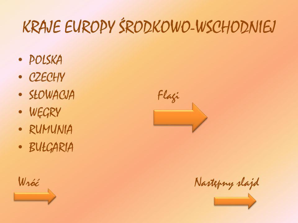 KRAJE EUROPY ŚRODKOWO-WSCHODNIEJ