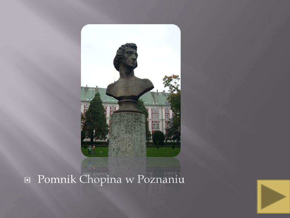 Pomnik Chopina w Poznaniu