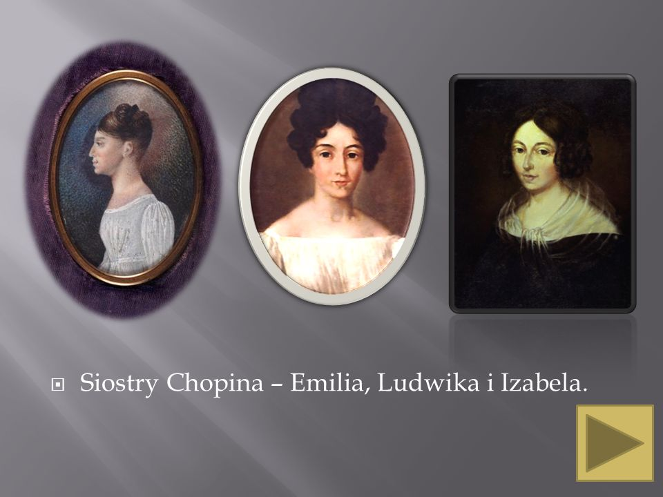 Siostry Chopina – Emilia, Ludwika i Izabela.