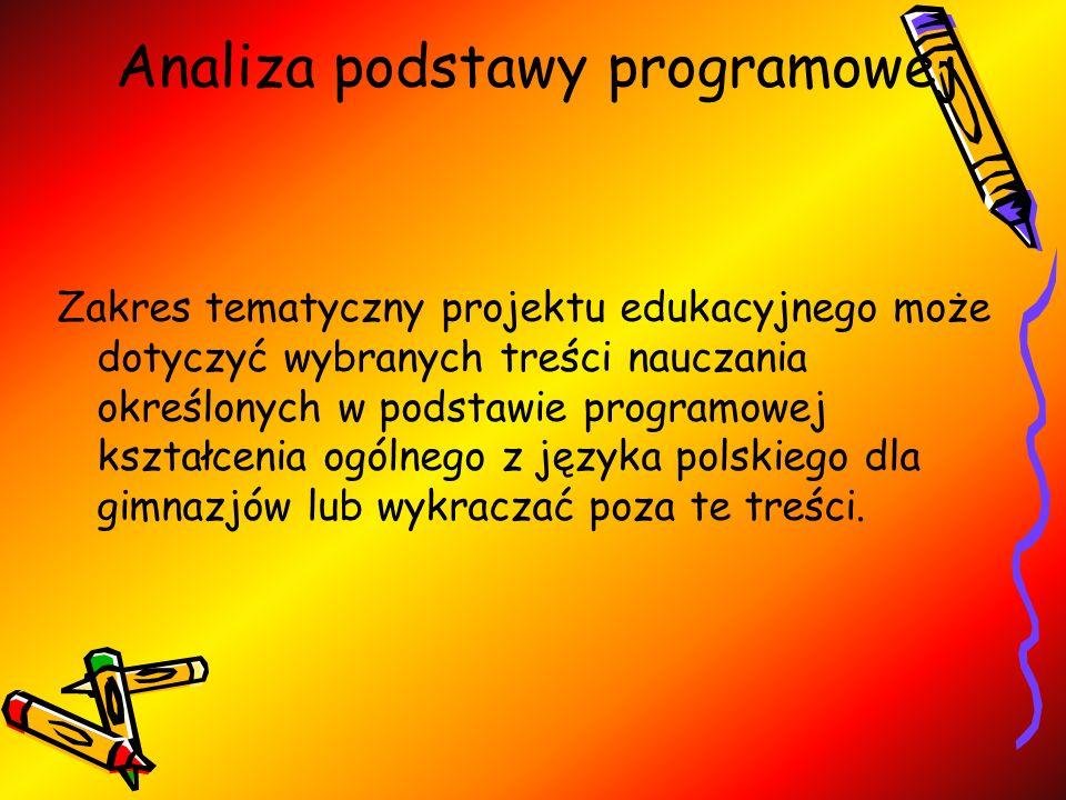Analiza podstawy programowej