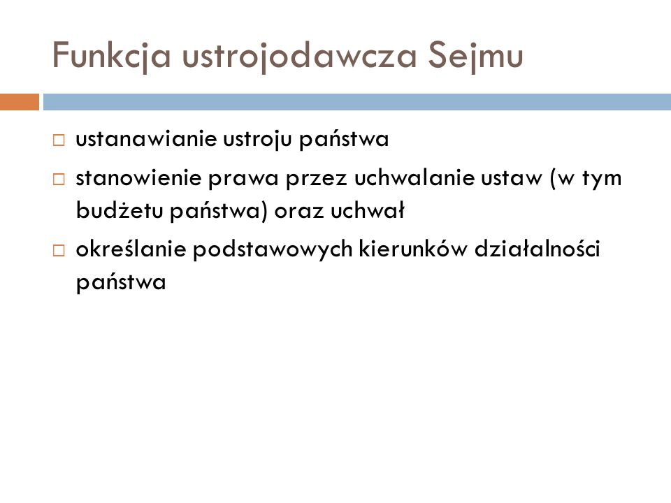 Funkcja ustrojodawcza Sejmu