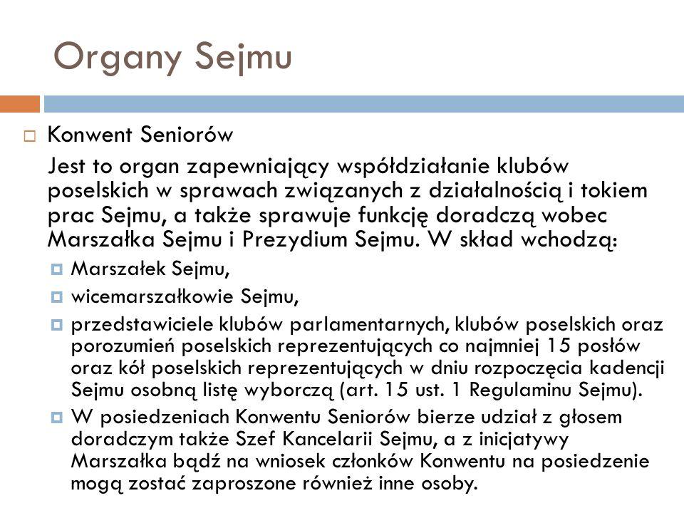 Organy Sejmu Konwent Seniorów
