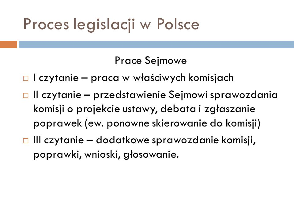 Proces legislacji w Polsce