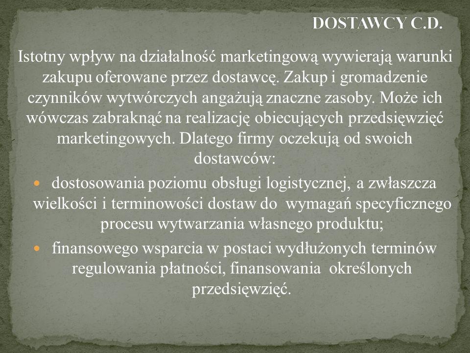 DOSTAWCY C.D.
