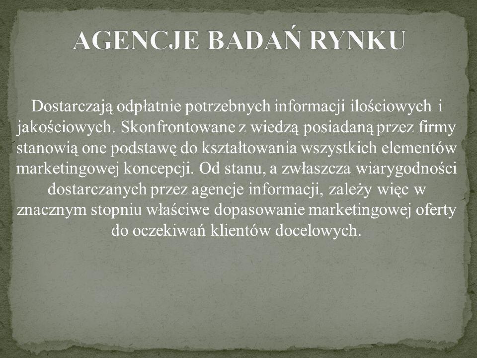 AGENCJE BADAŃ RYNKU