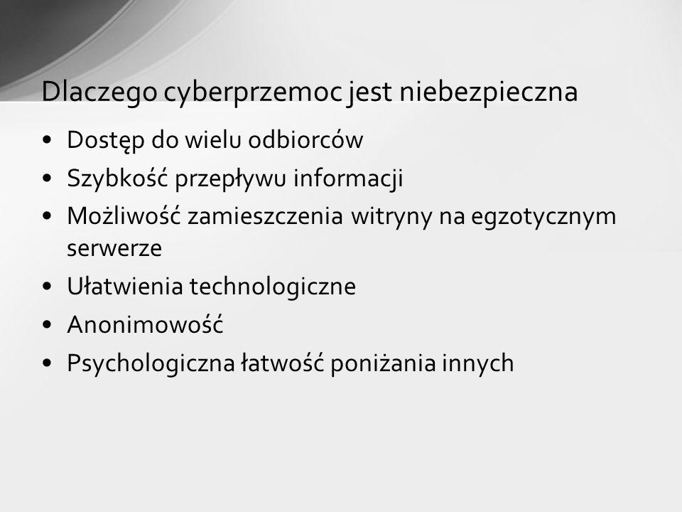 Dlaczego cyberprzemoc jest niebezpieczna