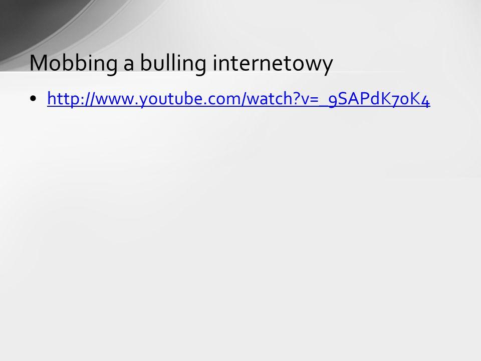 Mobbing a bulling internetowy