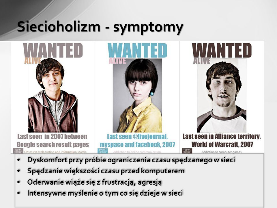 Siecioholizm - symptomy