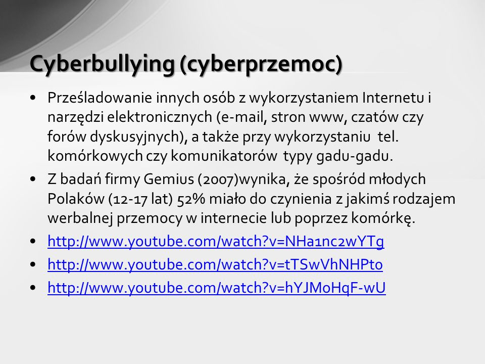 Cyberbullying (cyberprzemoc)