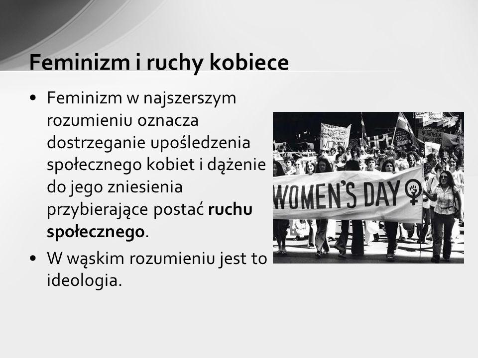 Feminizm i ruchy kobiece