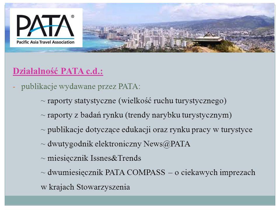 Działalność PATA c.d.: publikacje wydawane przez PATA: