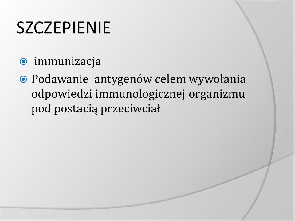 SZCZEPIENIE immunizacja
