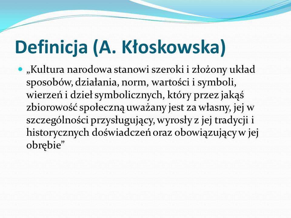Definicja (A. Kłoskowska)