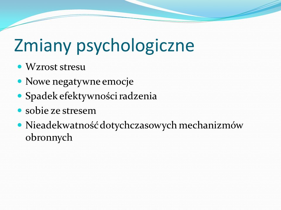 Zmiany psychologiczne