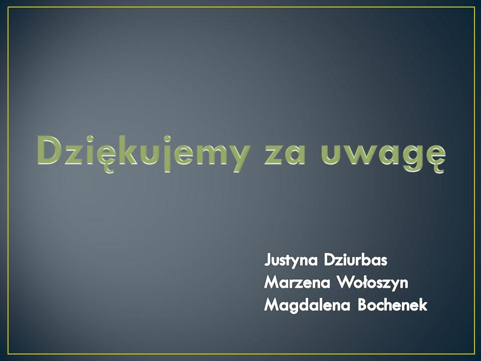 Dziękujemy za uwagę Justyna Dziurbas Marzena Wołoszyn
