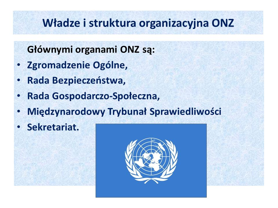 Władze i struktura organizacyjna ONZ