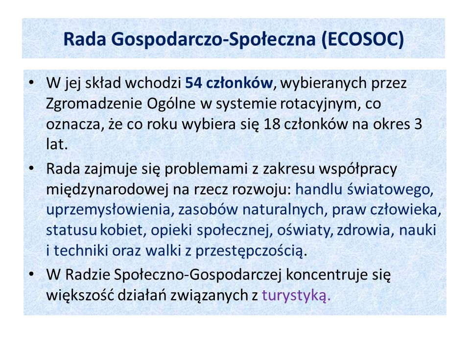 Rada Gospodarczo-Społeczna (ECOSOC)