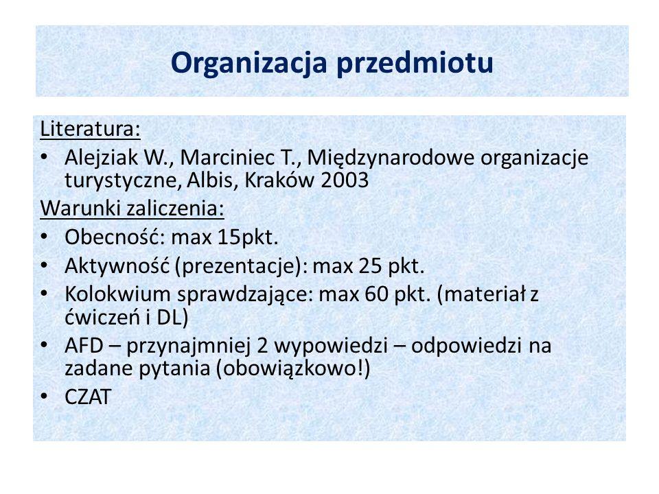 Organizacja przedmiotu