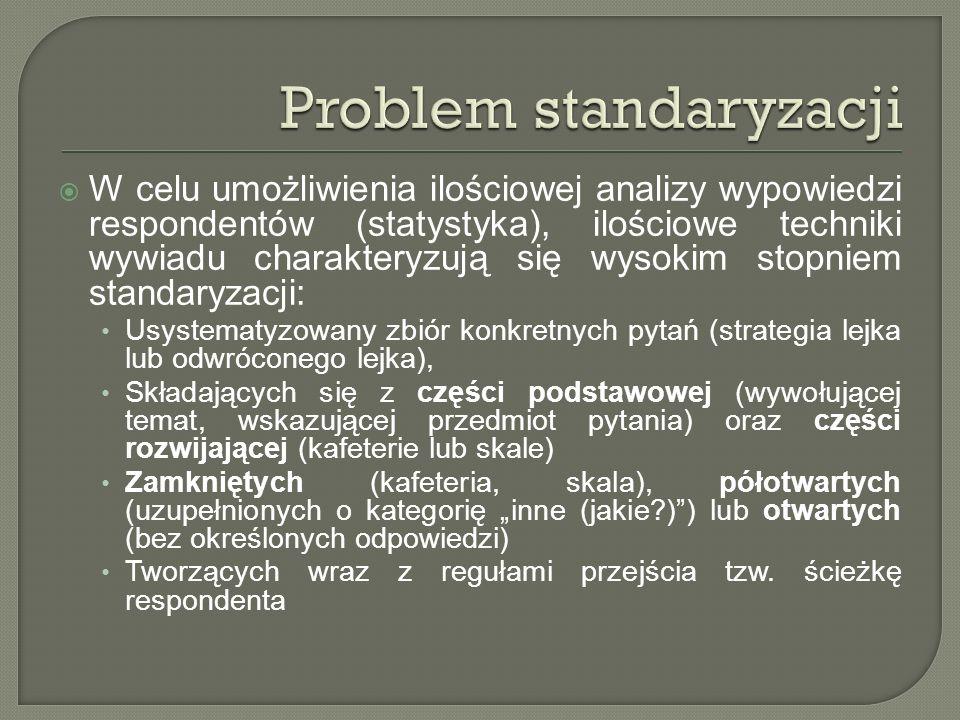 Problem standaryzacji