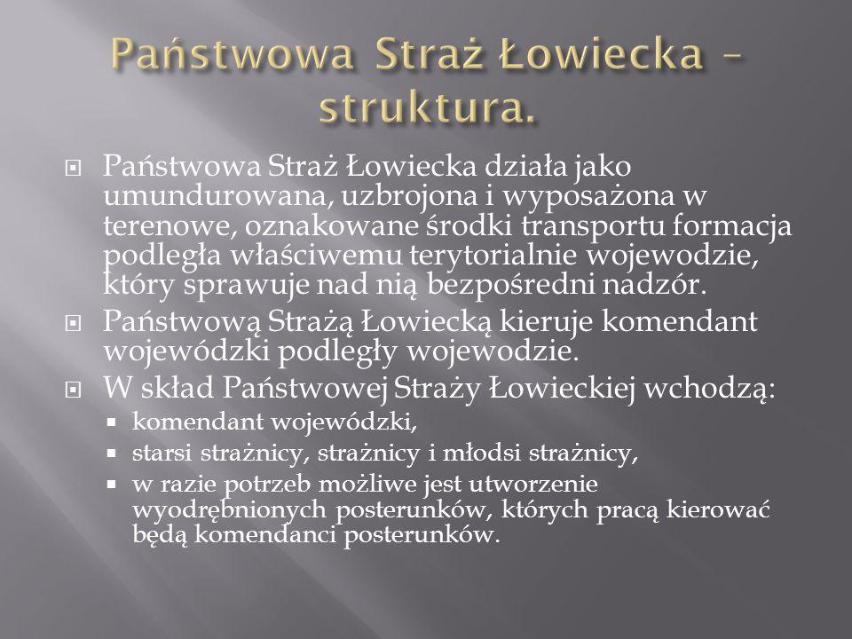 Państwowa Straż Łowiecka – struktura.