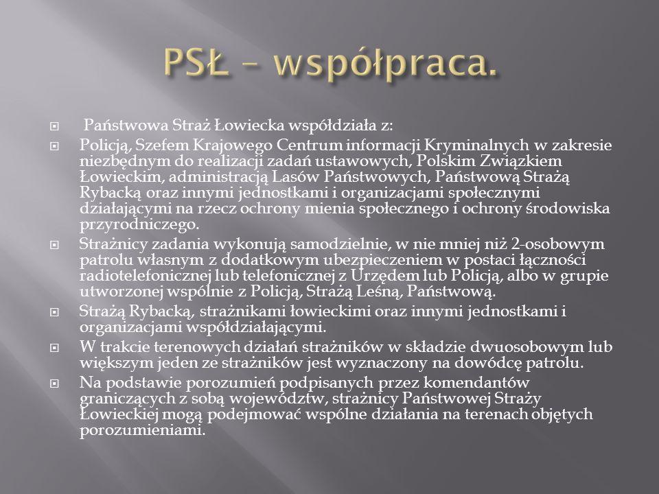 PSŁ – współpraca. Państwowa Straż Łowiecka współdziała z: