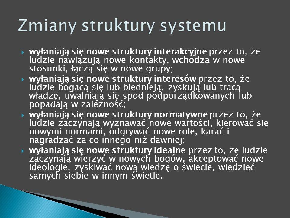 Zmiany struktury systemu