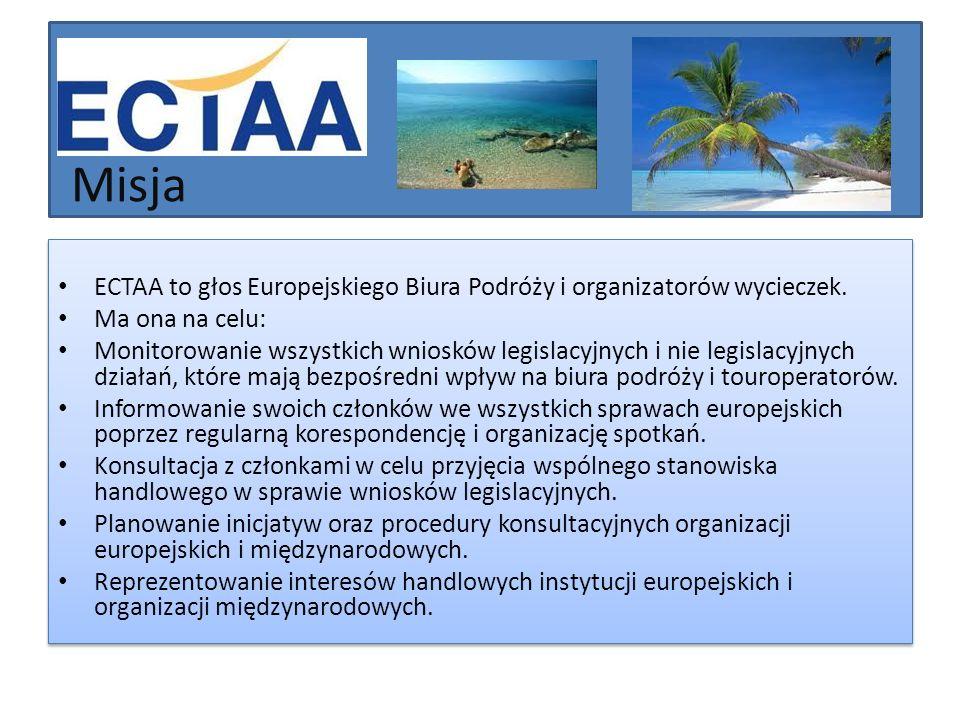 Misja ECTAA to głos Europejskiego Biura Podróży i organizatorów wycieczek. Ma ona na celu: