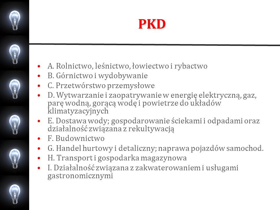 PKD A. Rolnictwo, leśnictwo, łowiectwo i rybactwo