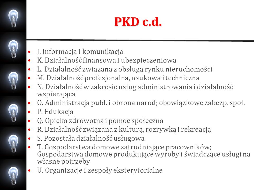 PKD c.d. J. Informacja i komunikacja