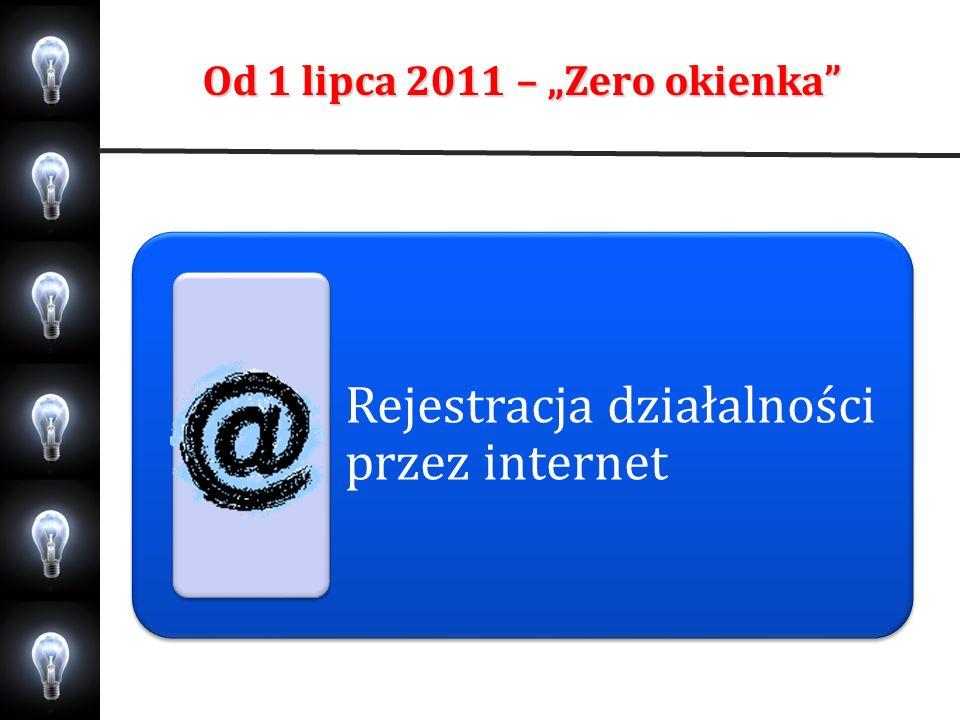 """Od 1 lipca 2011 – """"Zero okienka"""