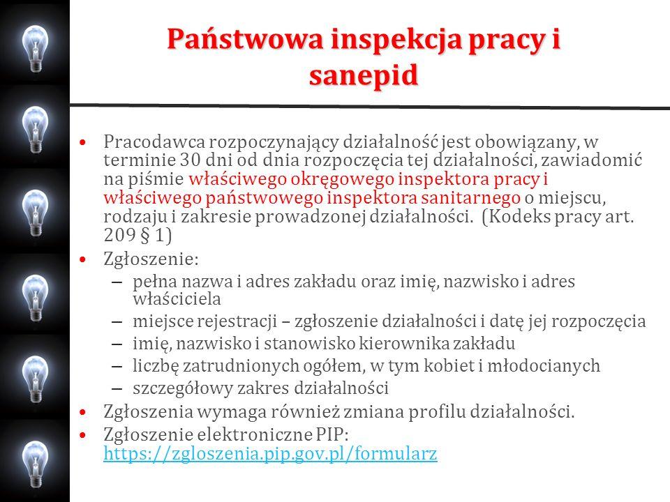 Państwowa inspekcja pracy i sanepid