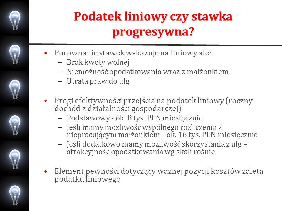 Podatek liniowy czy stawka progresywna